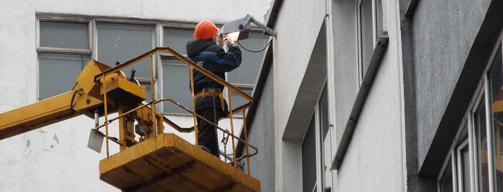 Обслуживание освещения зданий